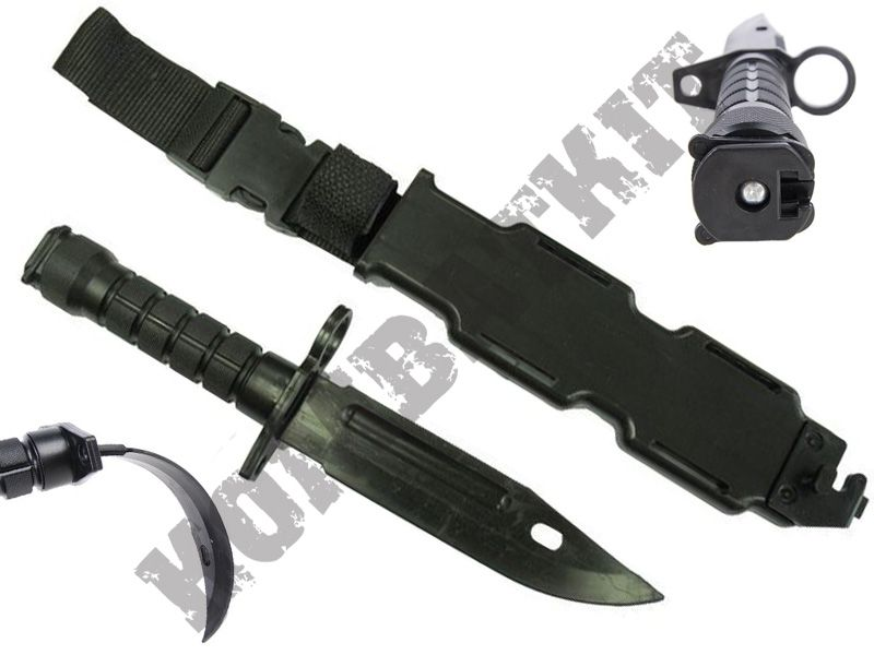 Kombatkit Rubber Training Knives Black Airsoft Aeg M4 M16