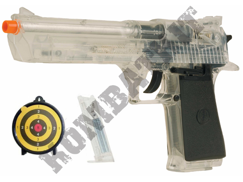 Desert Eagle 44 Magnum Airsoft BB Gun Clear with Target Set