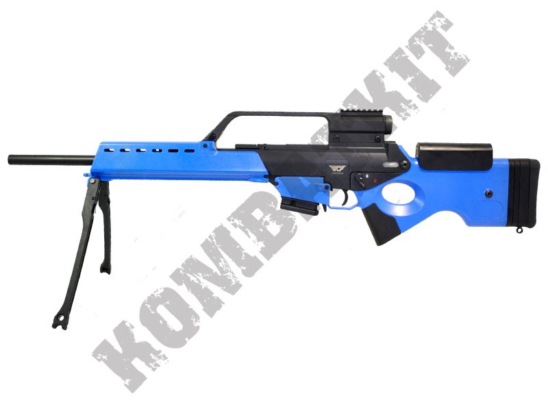 JG1438 G36 Sniper Style Rifle Electric Airsoft Gun Black and Blue